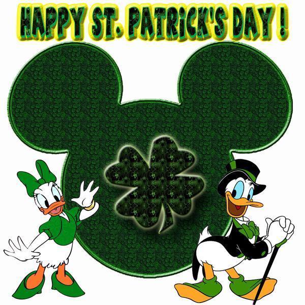 Happy St. Patrick's दिन Donald बत्तख, बतख