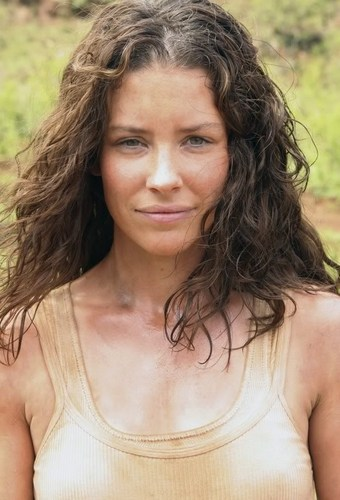 Lost wallpaper probably containing a portrait titled EVANGELINE LILLY