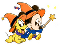 Halloween Baby Mickey muis and Pluto