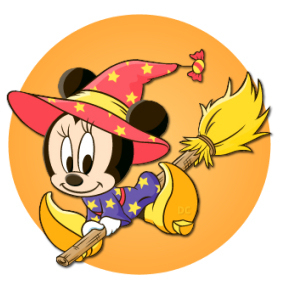 Halloween Baby Minnie topo, mouse
