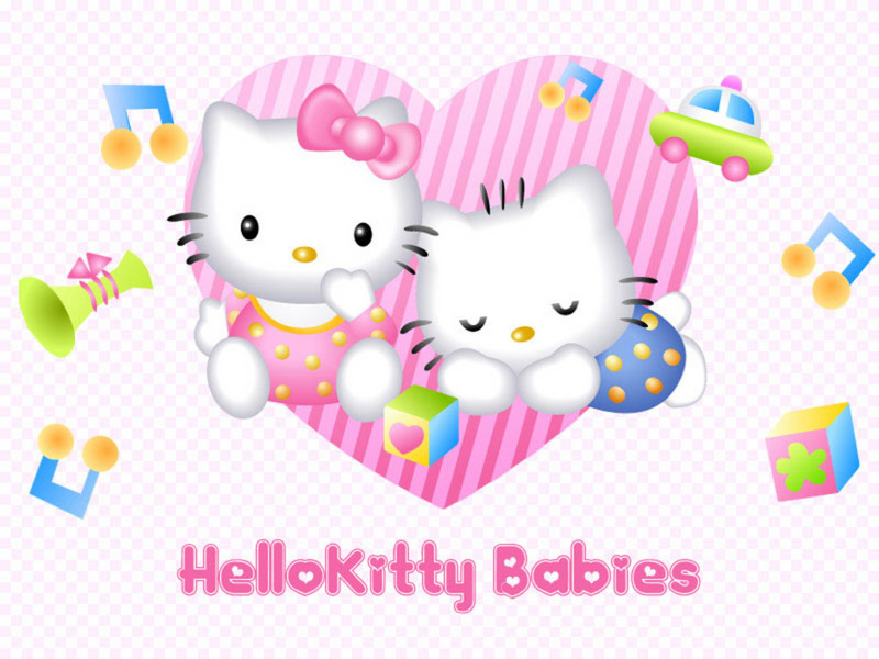 wallpaper of babies. Hello Kitty Babies Wallpaper