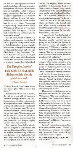 Ian talks Damon to TV Guide