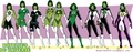 Jade costumes - dc-comics fan art