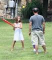 Jon Gosselin With His Kids In Their Yard