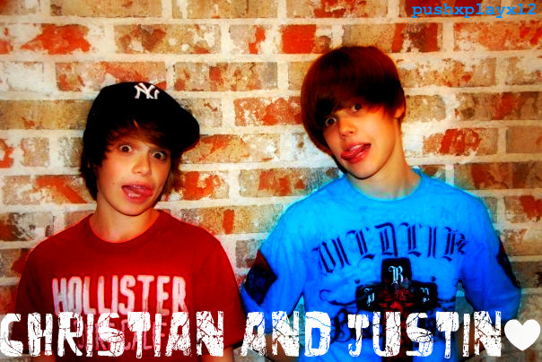 Justin && Christian (my fave pic ever por the way xD)