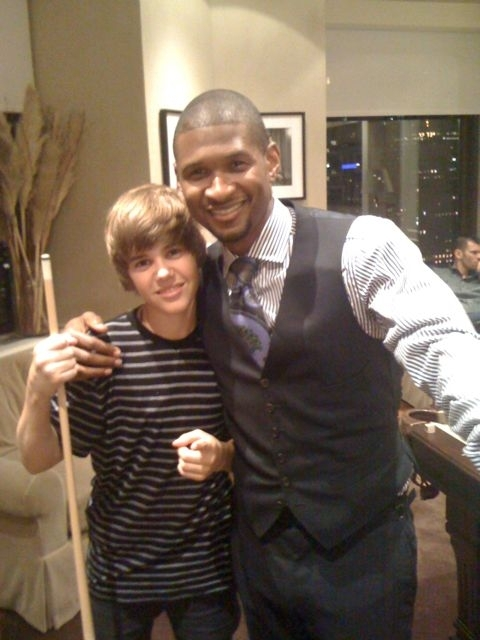 Justin and Usher - Justin Bieber 480x640