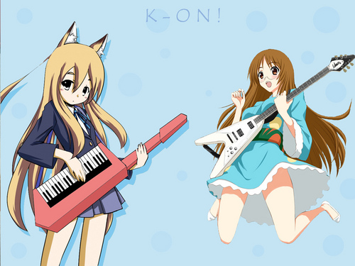 K-On! Mugi & Sawa Wallpaper