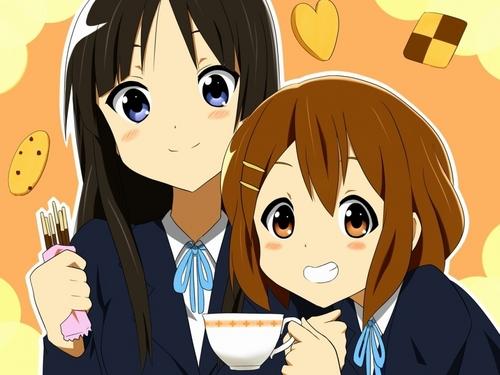 K-On! Yui & Mio hình nền