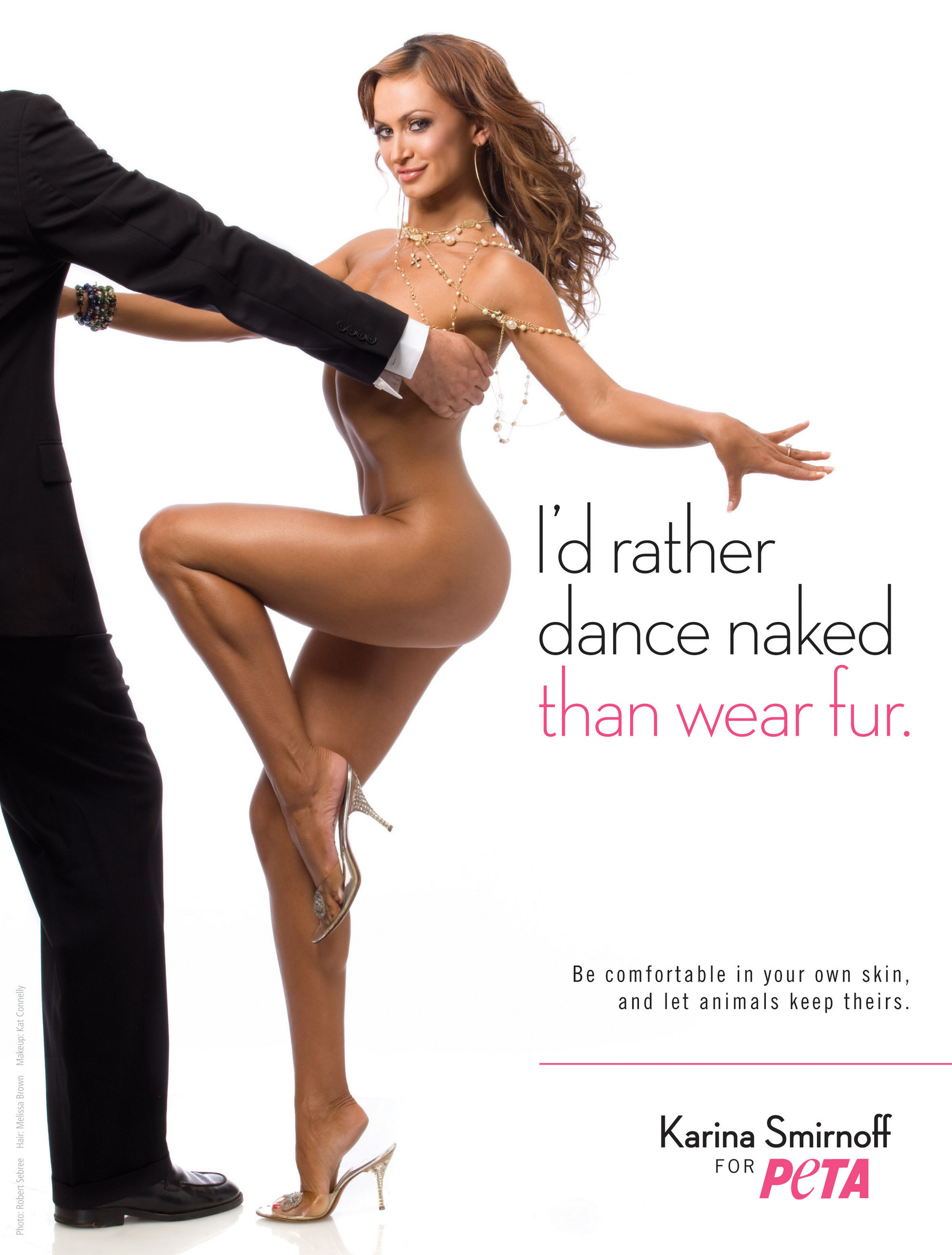 Dancing With The Stars images Karina's Sexy Anti-Fur PETA Ad HD wallpaper  and background photos