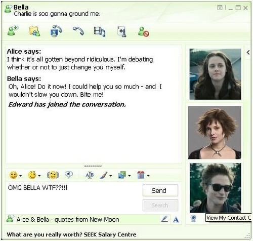 LOL! Alice & Bella IMing