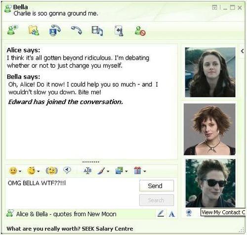LOL! Alice & Bella IMing