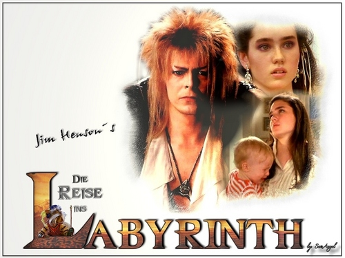 Labyrinth wallpaper with a portrait called Labyrinth