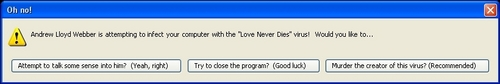 "Love Never Dies ""Error Message"""
