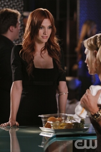 Ashlee Simpson wallpaper probably with a dinner table, a dinner, and a brasserie entitled Melrose Place - 1x05 - Canon