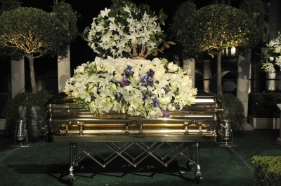Michael's private funeral