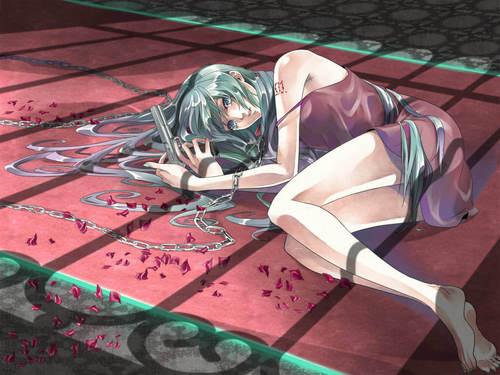 Miku Hatsune Vocaloid kertas dinding