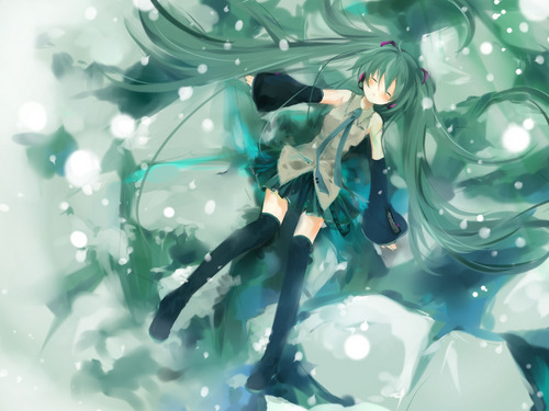 Miku Hatsune Vocaloid Обои
