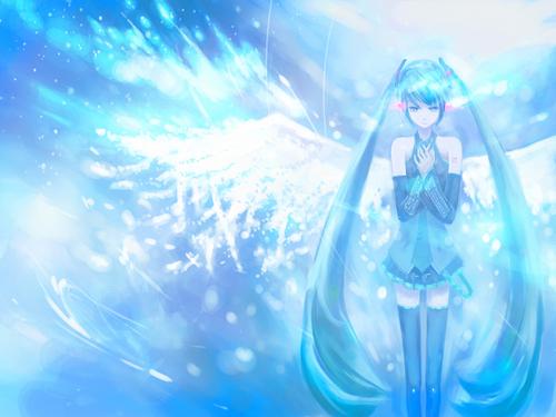 Miku Hatsune Vocaloid দেওয়ালপত্র