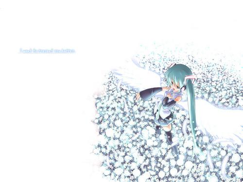Miku Hatsune Vocaloid پیپر وال