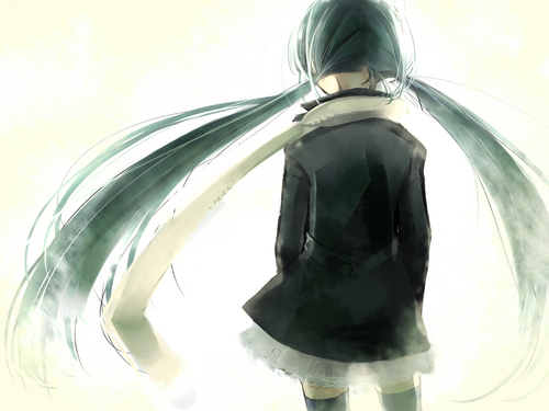 Miku Hatsune Vocaloid achtergrond