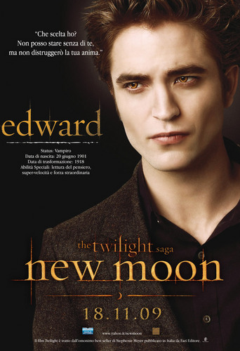 New Edward Poster from New Moon L(デスノート) Edward's expression here)
