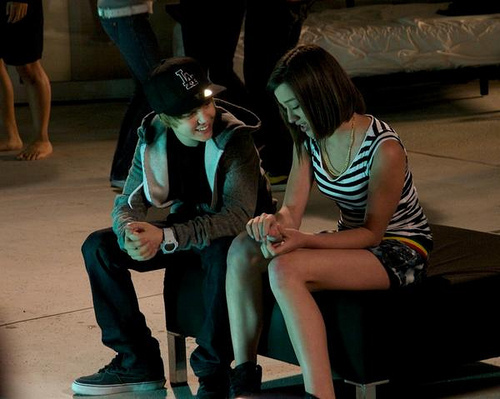 "On the set of ""One Time"""