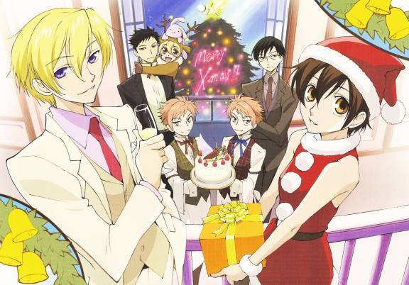 Ouran high school host club ouran christmas party
