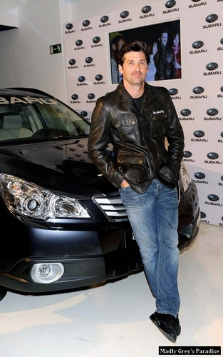Patrick Dempsey at Madrid- Subaru Outback