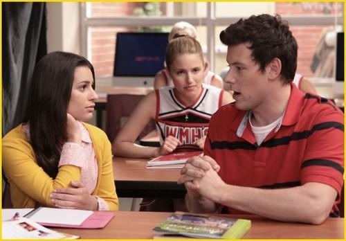 Rachel, Quinn, Finn
