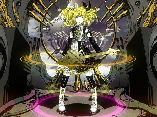 Rin Kagamine Vocaloid Wallpaper