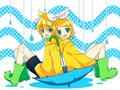 Rin & Len Kagamine Vocaloid achtergrond