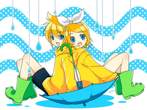 Vocaloids wallpaper probably with anime entitled Rin & Len Kagamine Vocaloid Wallpaper