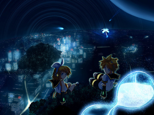 vocaloid hình nền entitled Rin & Len Kagamine Vocaloid hình nền