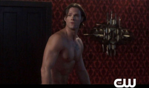 Sam Winchester wallpaper possibly with a hunk and skin titled Sam