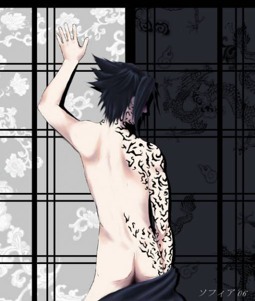 Sasuke Uchiha Shirtless