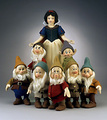 Snow White and the Seven Dwarfs mga manika