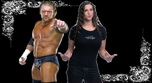 Triple H and Stephanie