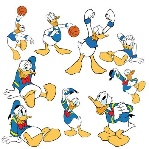 Various Poses of Donald pato