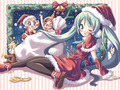 Vocaloids Christmas Wallpaper