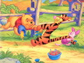 Winnie-the-Pooh karatasi la kupamba ukuta