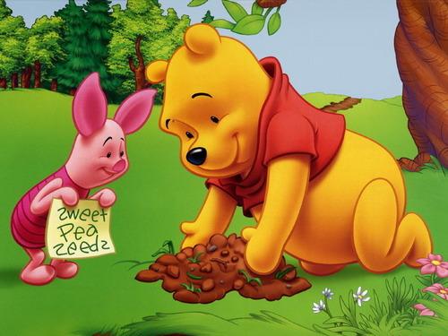 Winnie The Pooh kertas dinding containing Anime entitled Winnie The Pooh kertas dinding