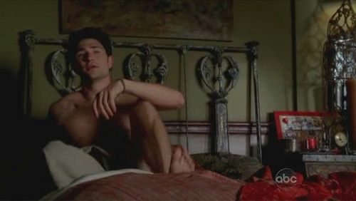 Matt Dallas kertas dinding possibly with a drawing room, a living room, and a family room called Witches of Eastwick (pilot)