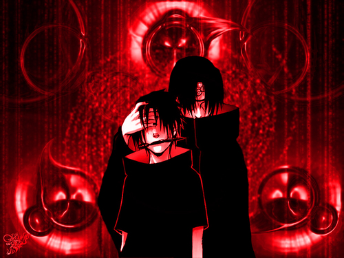 इताची उचिहा वॉलपेपर possibly containing a gasmask called itachi and sasuke