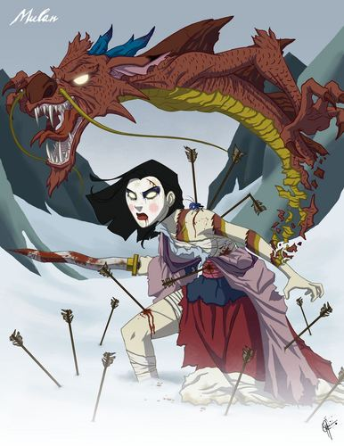 Mulan wallpaper possibly with anime titled When she was very angry!