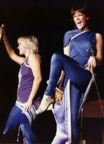 ABBA wallpaper with a hip boot titled ABBA