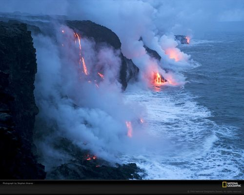 Active volcán