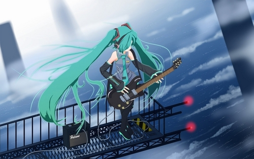 Vocaloids wallpaper entitled Air Guitar