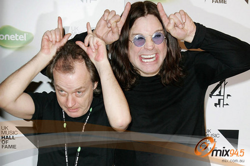 Angus and Ozzy Osbourne