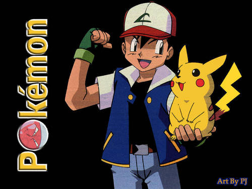 Ash Ketchum achtergrond containing anime titled Ash