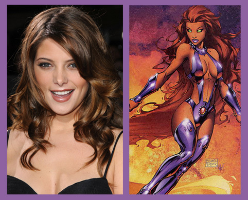 Ashley rumored to become a starfire character